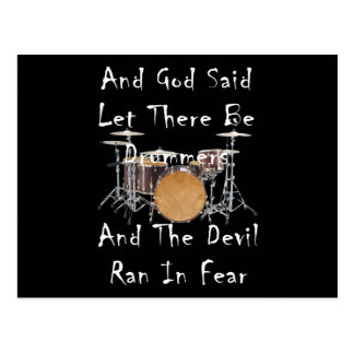 Let there Be Drummers Postcard