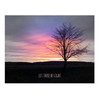 Let there be light bible verse postcard