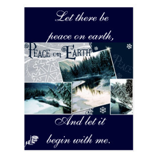 Let there be peace on earth postcards