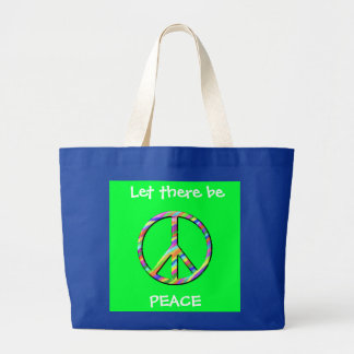 Let there be peace tote tote bags