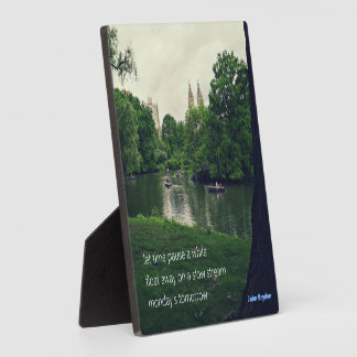 Let time pause a while - plaque