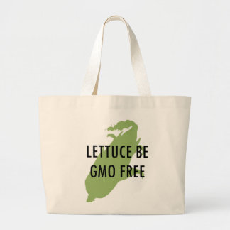 Let Us Be Lettuce Be GMO Free Tote