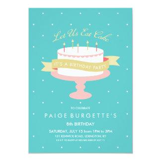 Let Us Eat Cake Birthday Invitation