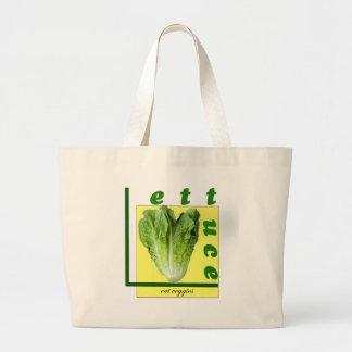 Let Us Eat Veggies Large Tote Bag