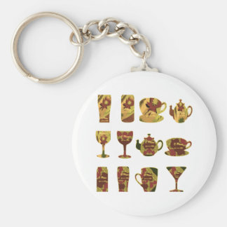 LET US PARTY : Bar, Club, Catering Kitchen GIFTS Basic Round Button Key Ring