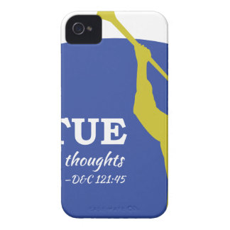 """""""Let Virtue Garnish Thy Thoughts"""" Angel Moroni iPhone 4 Covers"""