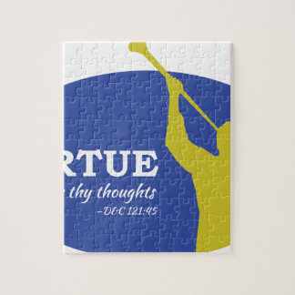 """""""Let Virtue Garnish Thy Thoughts"""" Angel Moroni Jigsaw Puzzle"""