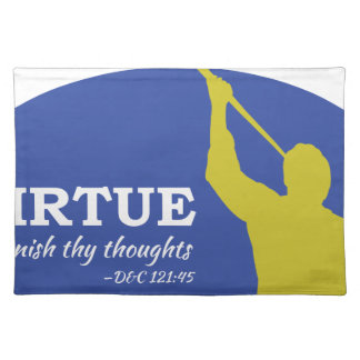 """""""Let Virtue Garnish Thy Thoughts"""" Angel Moroni Placemat"""