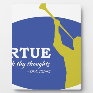 """""""Let Virtue Garnish Thy Thoughts"""" Angel Moroni Plaque"""