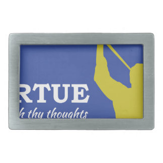 """Let Virtue Garnish Thy Thoughts"" Angel Moroni Rectangular Belt Buckle"
