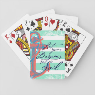 Let Your Dreams Set Sail Playing Cards