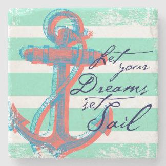 Let Your Dreams Set Sail Stone Coaster