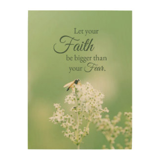 """Let your Faith…"" Christian Quote Floral Flower Wood Canvas"