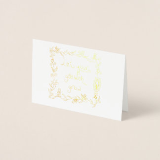 Let Your Garden Grow Foil Card