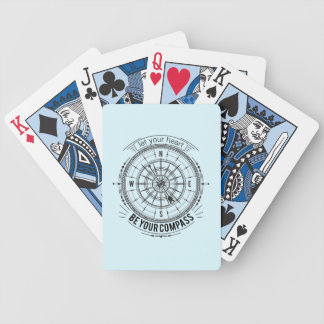 Let Your Heart Be Your Compass Bicycle Playing Cards