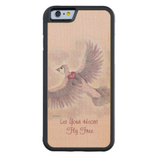 Let Your Heart Fly Free Fantasy Magical Carved Maple iPhone 6 Bumper Case