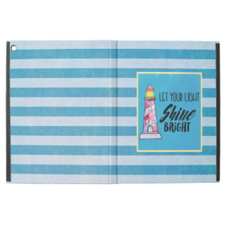 """Let Your Light Shine Bright Lighthouse Typography iPad Pro 12.9"""" Case"""