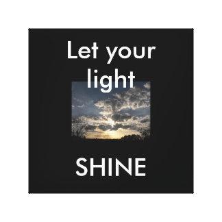 Let your light Shine. Canvas Prints