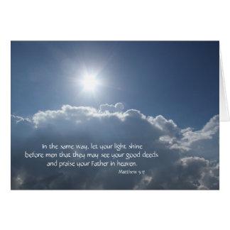 Let your light shine; Heavens Above! Card