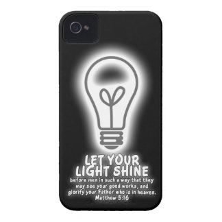 Let Your Light Shine Matthew 5:16 Bible Verse Case-Mate iPhone 4 Cases