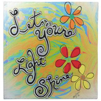 Let Your Light Shine Napkin
