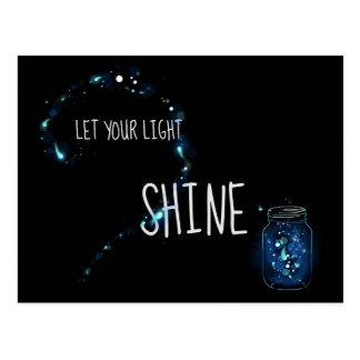 Let Your Light Shine Postcard