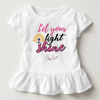 Let Your Light Shine Toddler Ruffle Tee