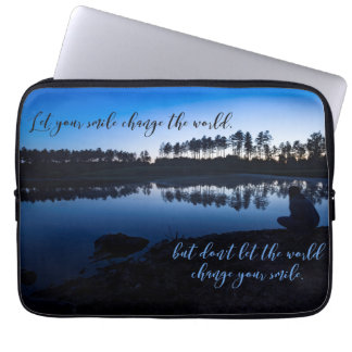 Let your smile change the world - Laptop Sleeve