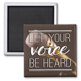 Let Your Voice Be Heard Microphone Magnet