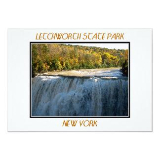 Letchworth State Park - Middle Falls 13 Cm X 18 Cm Invitation Card