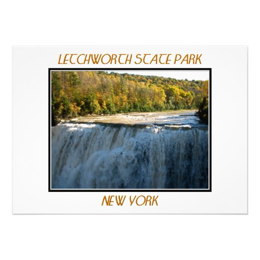 Letchworth State Park - Middle Falls Personalized Invitations