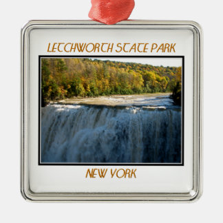 Letchworth State Park - Middle Falls Metal Ornament