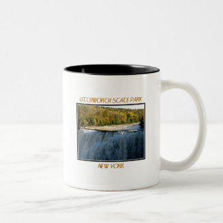 Letchworth State Park - Middle Falls Two-Tone Coffee Mug