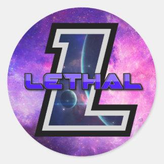 LETHAL CLAN LOGO CIRCLE STICKER! CLASSIC ROUND STICKER