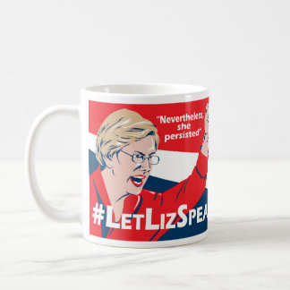 #LetLizSpeak Elizabeth Warren mug - by BJCM Studio