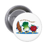 Let's All Go to the Market 6 Cm Round Badge