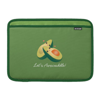 Let's Avocuddle Funny Cute Avocados Pun Humor MacBook Sleeve