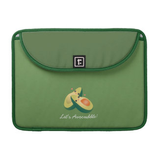 Let's Avocuddle Funny Cute Avocados Pun Humor Sleeves For MacBook Pro