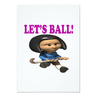 "Lets Ball 5"" X 7"" Invitation Card"