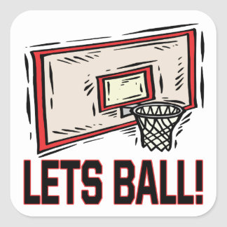 Lets Ball Square Sticker
