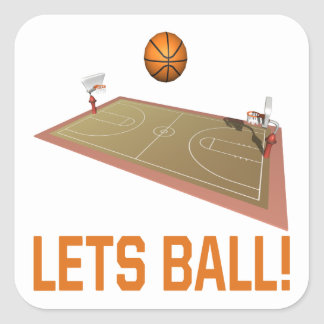 Lets Ball Square Sticker