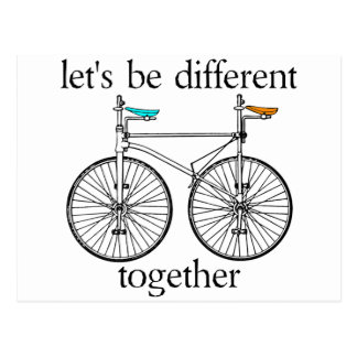Let's Be Different Together Postcard