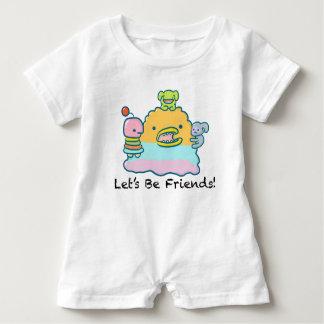 Let's Be Friends Baby Romper Baby Bodysuit