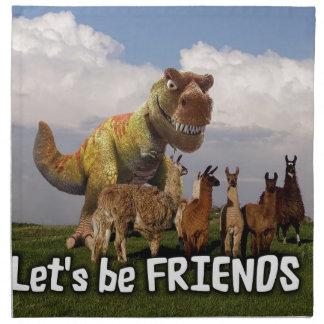 Lets be Friends Napkin