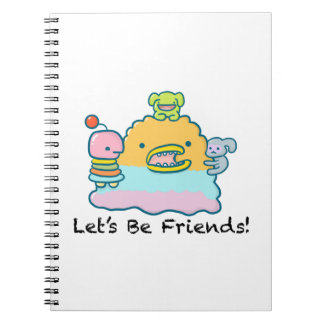 Let's Be Friends Photo Notebook (80 Pages B&W)