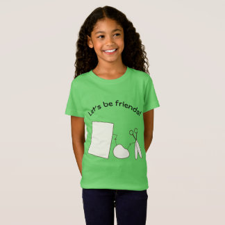 Let's Be Friends, Rock, Paper and Scissors T-Shirt