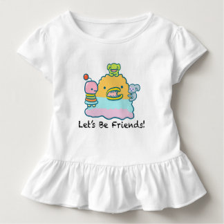 Let's Be Friends Toddler Ruffle Tee