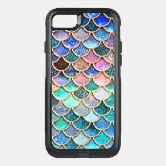 Let's be mermaids- Mermaid Glitter- Mermaid Scales OtterBox Commuter iPhone 8/7 Case