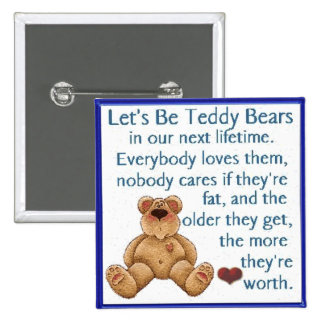 Let's Be Teddy Bears Pin