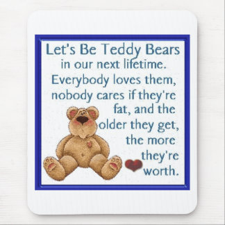 Let's Be Teddy Bears Mouse Pad
